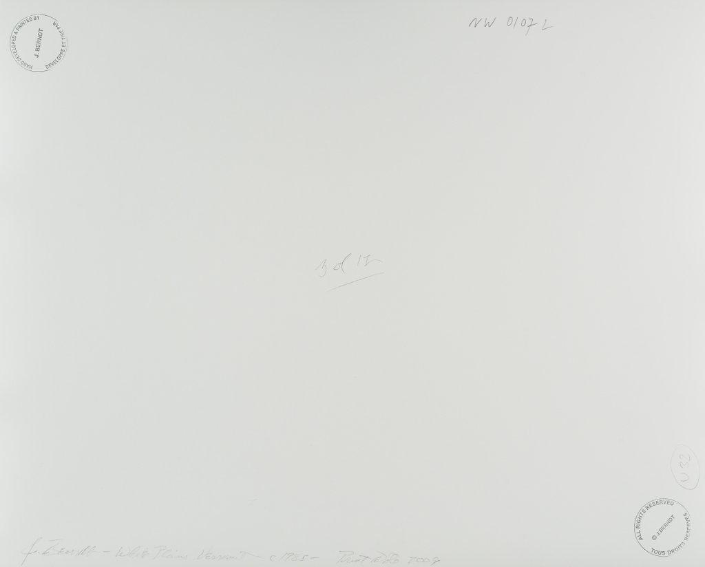 White Plains, Vermont, 1985