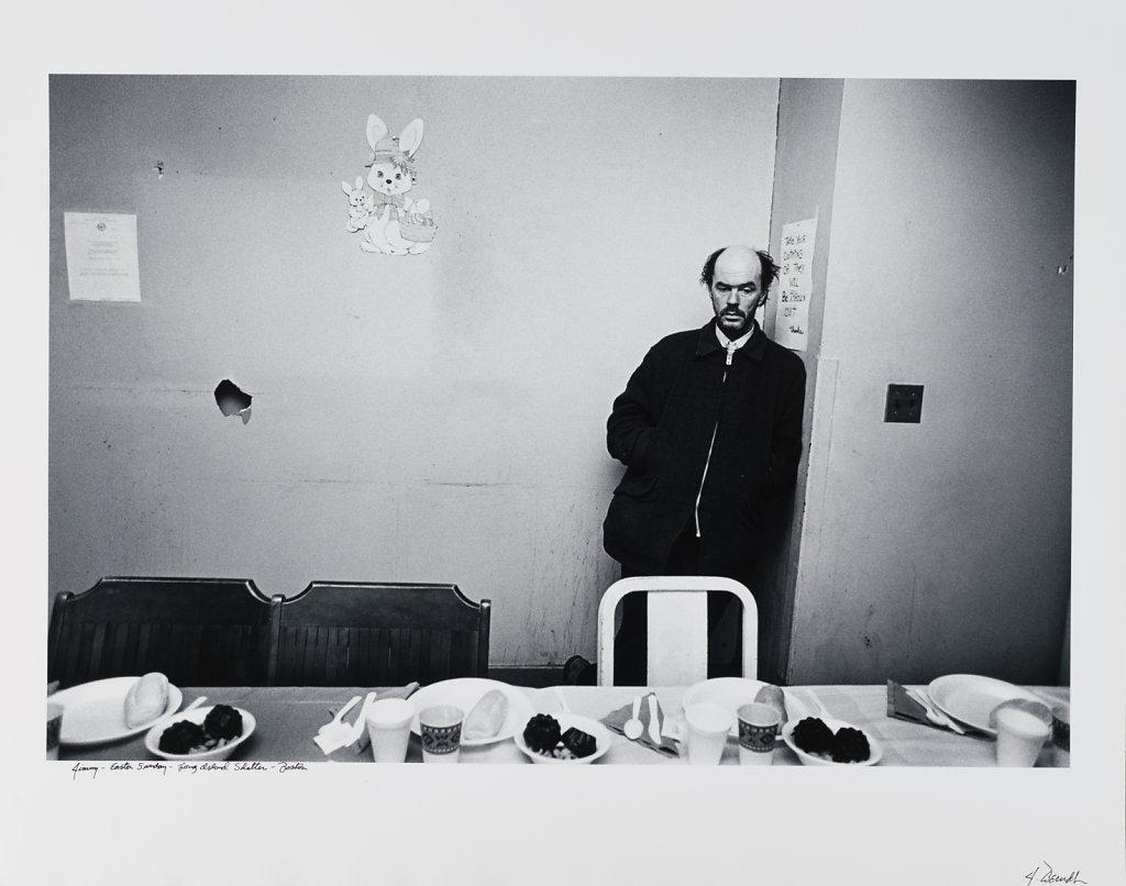 Jimmy-Ester Sunday, Long Island Shelter, Boston, 1983