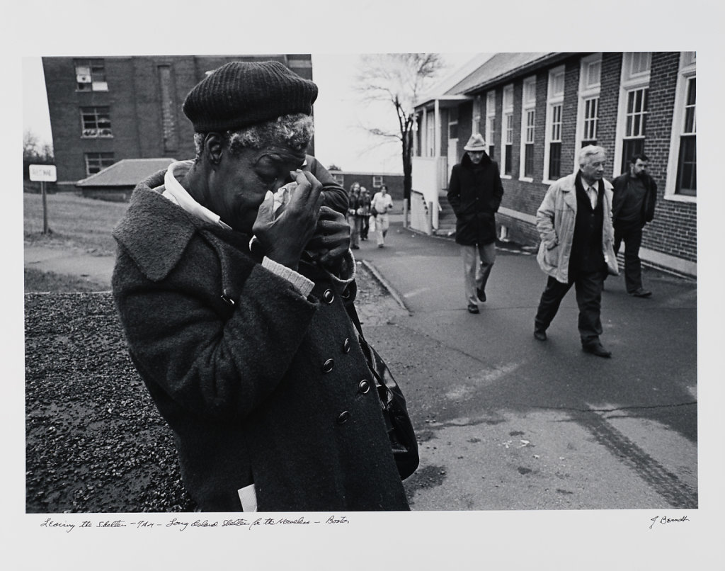 Leaving the Shelter, 7AM, Long Island Shelter for the Homeless, 1983