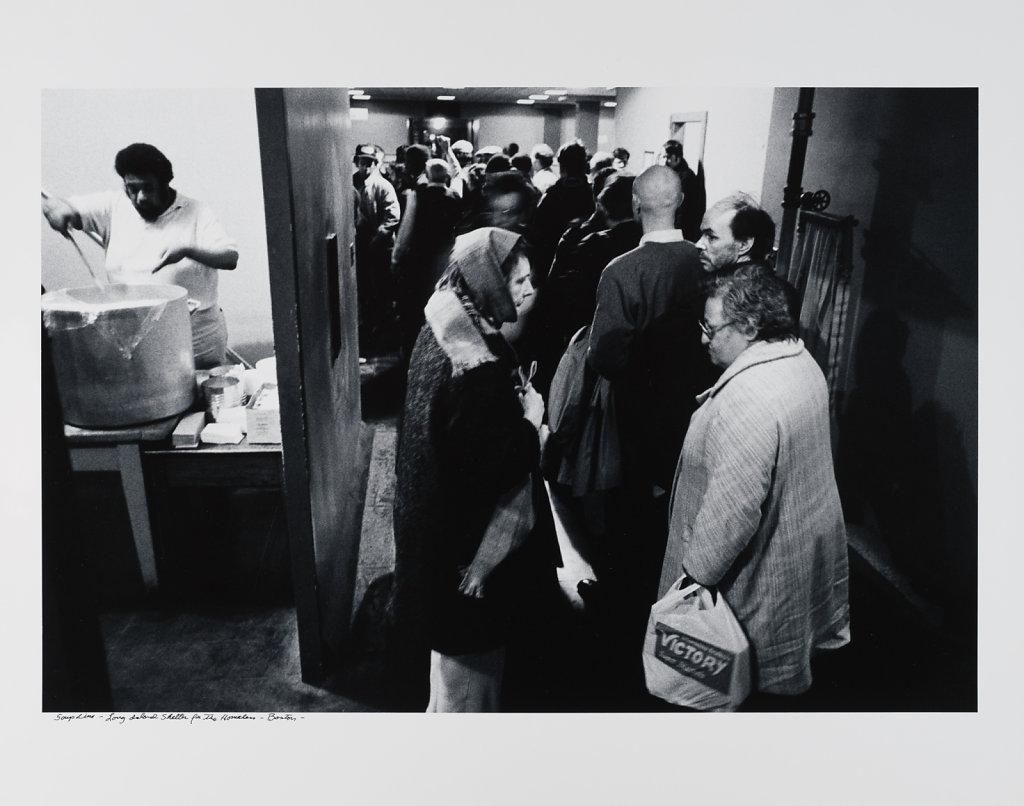 Soup Line, Long Island Shelter for the Homeless, Boston, 1983