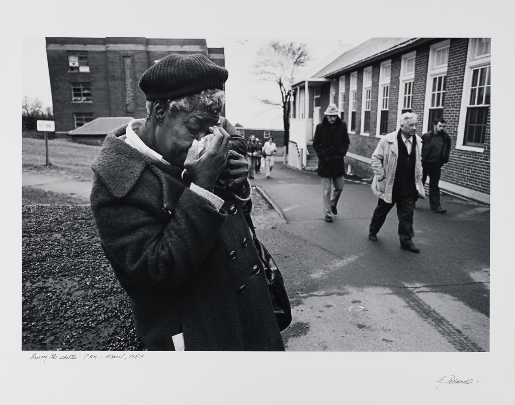 Leaving the Shelter, 7AM, Long Island Shelter for the Homeless,March 1983