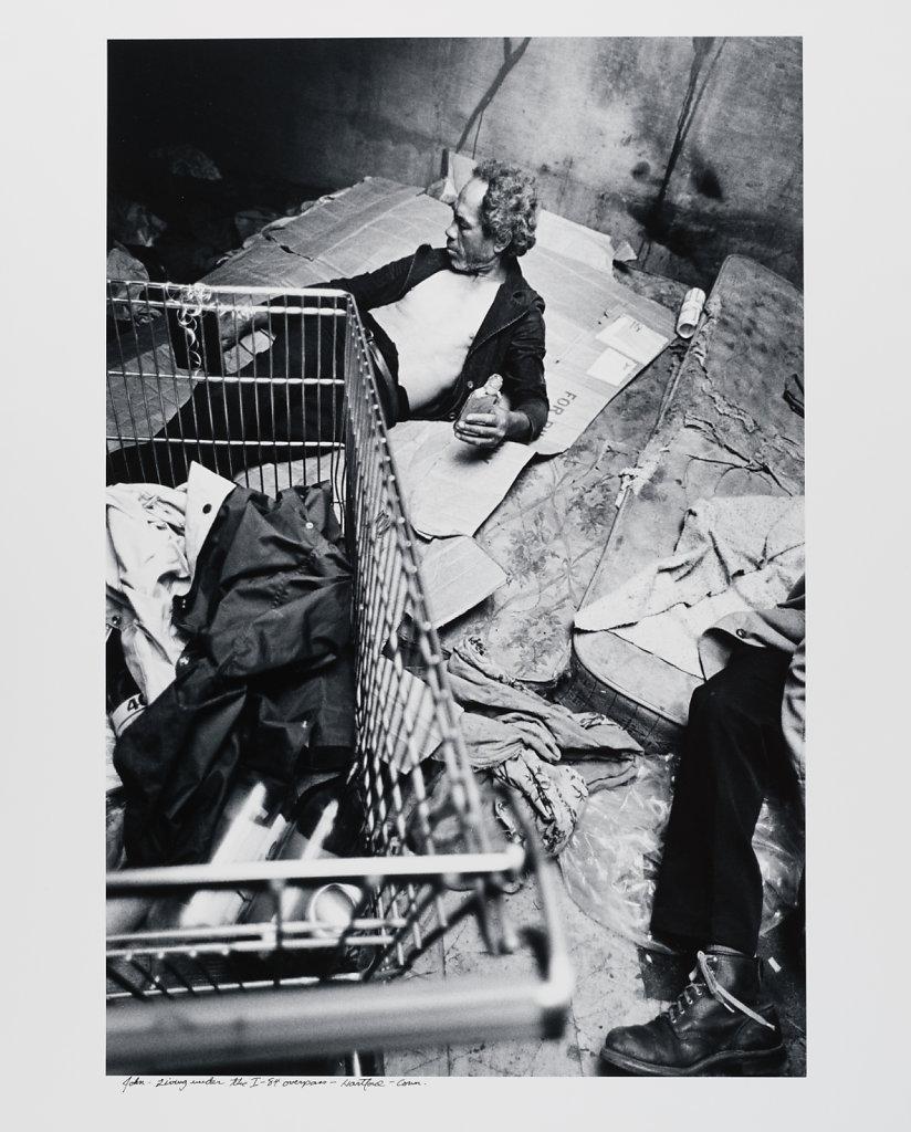 John, living under the I-84 overpass, Hartford, Conn.1983