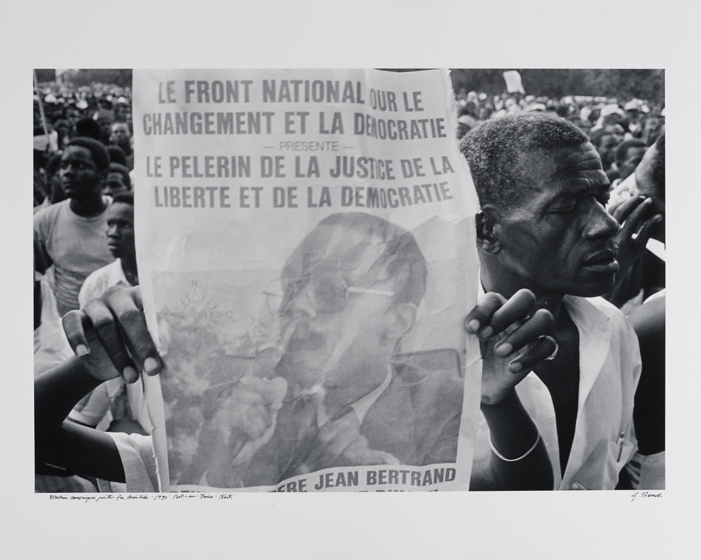 Election campaigne poster for Aristide, Port-au-Prince, Haiti, 1990