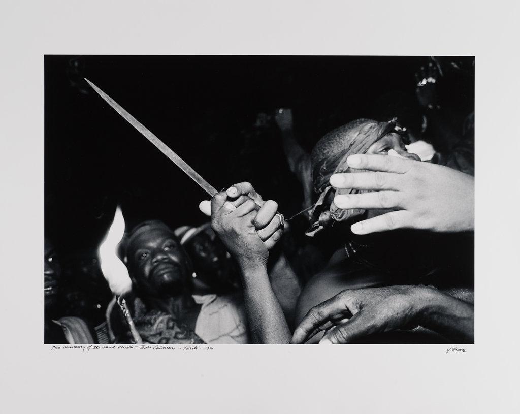 200 anniversery of slave revolt, Bois Caëman, Haiti, 1988