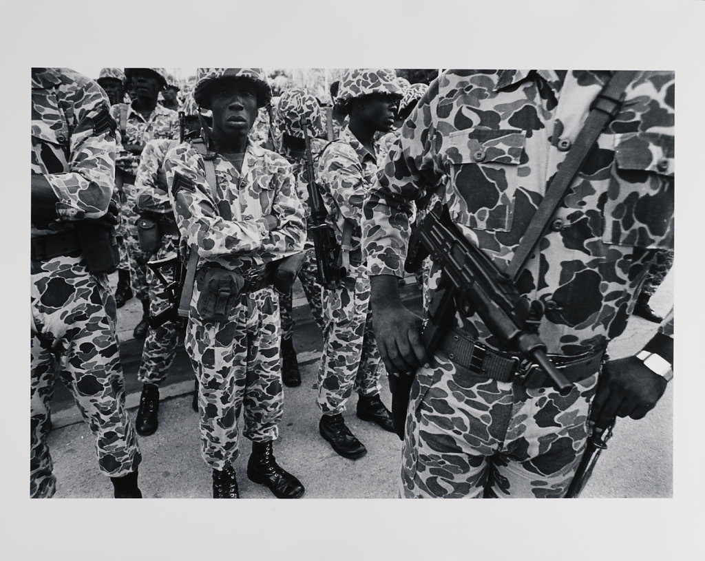 "Port-au -Prince, ""The Leopards""-US trained elite troops, Haiti, 1986"