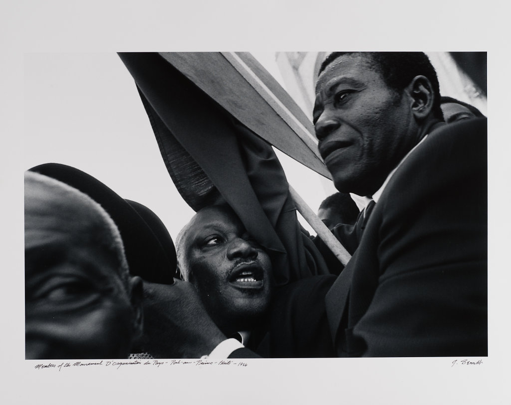 Port-au -Prince, Members of the M.O.P.-political party, Haiti, 1986